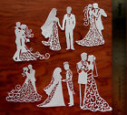 12 Tattered Lace+ Wedding Love Engagement CARD TOPPER die cut out set Couple