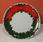 Fitz and Floyd HOLLY WREATH Cake Plate PERFECT Christmas Serving Compote Stand