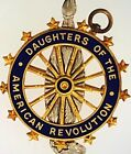 Antique Daughters Of The American Revolution 14K Gold  Enamel Caldwell  Co