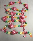 Vintage Christmas Tree Garland Plastic Candy Cane Rings 85 feet 1