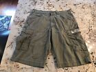 VINTAGE POLO RALPH LAUREN JEANS CO olive Spell Out FREIGHTER Cargo Shorts SZ 34