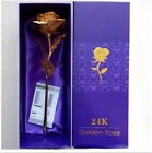 24K 99 Golden Foil Rose Flowers with gift box Party Wedding Lovers present