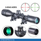 3 9x40AO RGB Mil Dot Riflescope Combo w Sunshade Tube Flip Up Caps