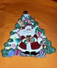 Fitz & Floyd Christmas Santa Claus Plate Wall Plaque Serving Dish Candy Cane