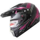ATV Dual Sports Motocross Offroad Dirt Bike Helmet Pink Black A84 W visor