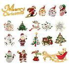 Christmas Crystal Snowman Snowflake Brooch Pin Jewelry Dress Accessory Party