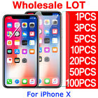 Tempered Glass Soft PET Screen Protector Film For Apple iPhone X Wholesale Lot