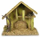 Nativity Creche Nativity Stable Covered with Moss and Wood Chips Wooden
