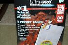 NIP Ultra Pro Hologram Series 9 Pocket Pages 30 Pages Card Holders