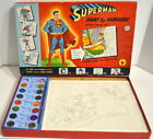 SUPERMAN PAINT by NUMBERS WATER COLOR SET Transogram 1954