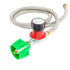 Gas One Propane 0 30 PSI High pressure Regulator with 4 Feet QCC 1 type Hose