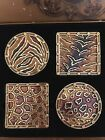 JAY STRONGWATER JUNGLE COLLECTION SWAROVSKI COASTERS