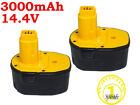 Two cordless drill battery for Dewalt 652345-01, DC9091, DC9094, DE9038 Ni-MH