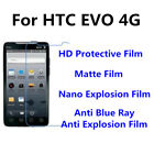 3pcs For HTC EVO 4G High Clear Matte Anti Blue Ray Screen Protector