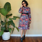 70s Vintage Floral Midi Tea Dress Large Quirky
