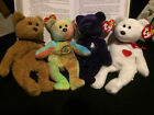 TY Beanie Baby BEAR lot of 4 MWMTs RETIRED VERY RARE Perfect Collectibles Gift