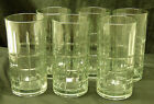 Set of 6 Anchor Hocking Tartan Clear Flat Iced Tea Mixed Drinks Glasses Tumblers