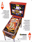 Gottlieb ROYAL FLUSH DELUXE Original 1983 NOS Flipper Game Pinball Machine Flyer