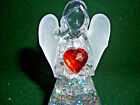 Hallmark Gift Bag JANUARY Angel Red Heart Birthstone Lighted Snow Globe NEW