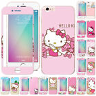 Cute Hello kity Front + Back Tempered Glass Film for Apple iPhone 6/7/8 Plus