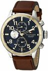 Tommy Hilfiger Men's 1791137 Cool Sport Two-Tone SS Watch with Faux-Leather Band