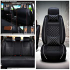 Breathable PU Leather Soft 5 seat Car Seat Covers Cushion Neck Lumber Pillows
