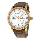Blancpain Villeret Half Timezone Automatic White Dial 18kt Rose Gold Mens Watch