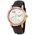 A. Lange and Sohne Lange 1 Daymatic Silver Dial 18kt Rose Gold Mens Watch