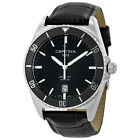Certina DS First Ceramic  Black Leather Mens Watch C0144101605100