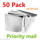 50 PACK  Emergency Solar Blanket Survival Safety Insulating Mylar Thermal Heat