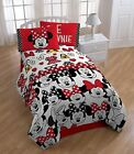 Kids Bedroom Decor Disney Minnie Mouse Who 3 Piece Who Twin Sheet Set 3  Red