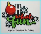 CRAFTECAFE MINDY WINTER FUN CHRISTMAS premade paper piecing TITLE scrapbook