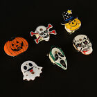 Halloween pumpkins Ghost LED Flashing Light Up Badge Brooch Pins Party Gifts FF