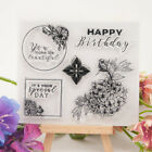 birthday Transparent Clear Stamps seal DIY Scrapbooking Cards Making Decor