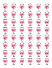 48 THANK YOU PINK ROSE HEART ENVELOPE SEALS LABELS STICKERS 12 ROUND
