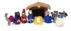 Felted wool Traditional Christmas Nativity Set ethically made in Nepal