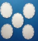 5 Fancy Oval Tags Frames Die Cuts Scrapbooking And Cardmaking