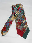 VINTAGE GUCCI 100 SILK SKINNY PATCHWORK NECK TIE MADE IN ITALY