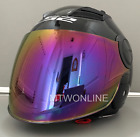 LS2 Open Face Scooter Moped Helmet with Tinted Visor Options Gloss Black
