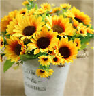 Artificial 27cm Head Fake Sunflower 14Heads Flower Bouquet Home Wedding Decor