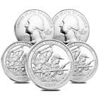 Lot of 5 2017 5 oz Silver America the Beautiful ATB Indiana George Rogers