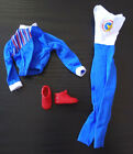 Barbie Clothes Paralympics Doll Outfit Uniform Jump Suit Jacket Flat Sneakers