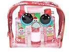 Ty Beanie Boo Tinsel Christmas Bath Set Strawberry Travel Cosmetic Bag One Size