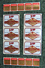 6 UNUSED New Briggs  Stratton Motor engine water dip decals 3 HP 4 cycle