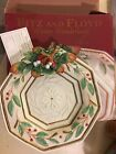 Fitz and Floyd Christmas Winter Wonderland Canape Plate Holiday 10