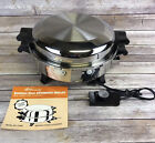 Regal Ware Society Stainless Steel Electric Skillet Liquid Core #7253 Dome Cover