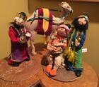 Vintage Annalee Christmas Nativity Dolls And Camel
