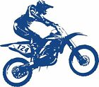 Motorcycle Motocross Dirt Bike Racing Sport Car Truck Window Vinyl Decal Sticker