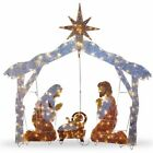 Led Outdoor Nativity Set Christmas Scene Lights Crystal Holiday Decorations 72