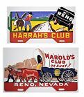 Harolds Club and Harrahs Club License Plate Toppers Nice Reproductions